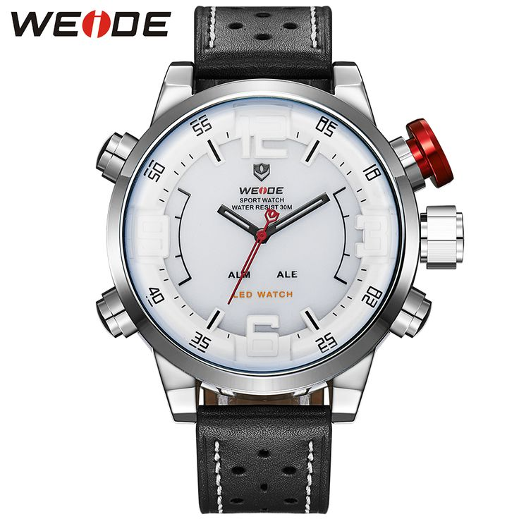 WEIDE Men Sports Watches White Face 3ATM Water Resistant Analog LED Digital Display Genuine Leather Watches Erkek Kol Saati     Tag a friend who would love this!     FREE Shipping Worldwide     Buy one here---> https://shoppingafter.com/products/weide-men-sports-watches-white-face-3atm-water-resistant-analog-led-digital-display-genuine-leather-watches-erkek-kol-saati/