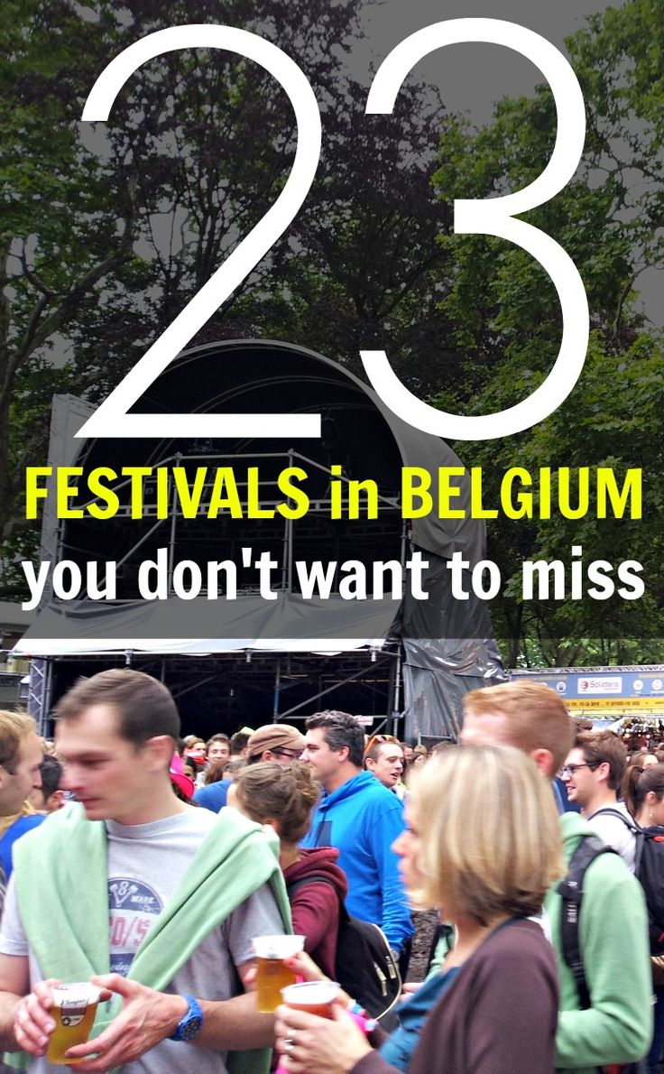 Belgium is known for its many summer festivals. This list of 23 festivals in Belgium contains all the big ones. Which one would you like to go to?