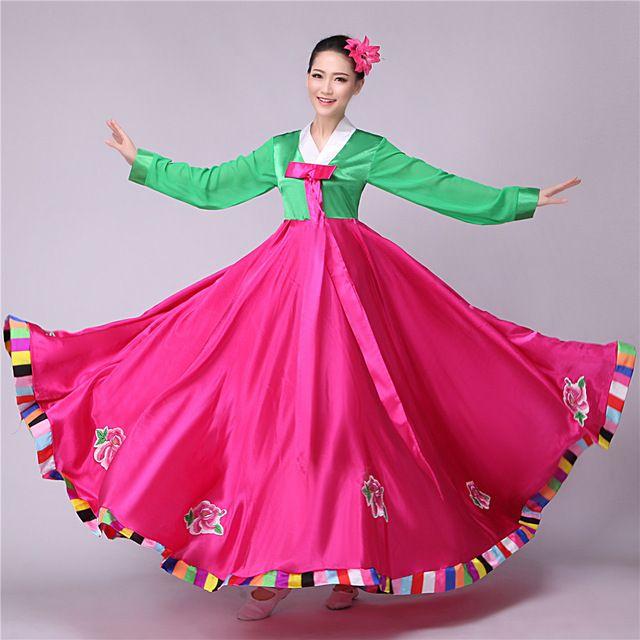 Kore geleneksel elbise hanbok kore ulusal kostüm asya giyim kore kostümleri gelinlik halk dans kostümleri