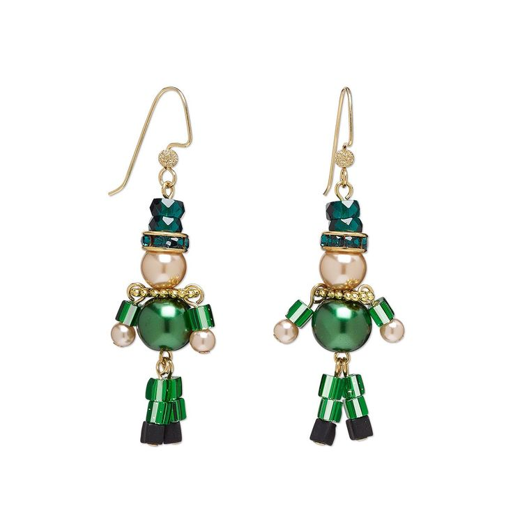 Leapin' Leprechauns! Adorable!  #jewelrymaking #StPatricksDay #Leprechauns #diyearrings #beading