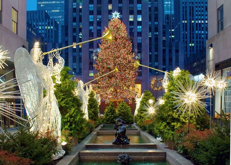 Christmas in New YorkChristmas Time, Buckets Lists, New York Cities, Christmas Cheer, Rockefeller Center, Christmas In New York, Newyork, Christmas Trees, The Holiday