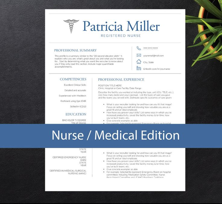 Nurse Resume Template for Word A4 \ Letter, Nursing Resume ( 1, 2 - certified nurse resume