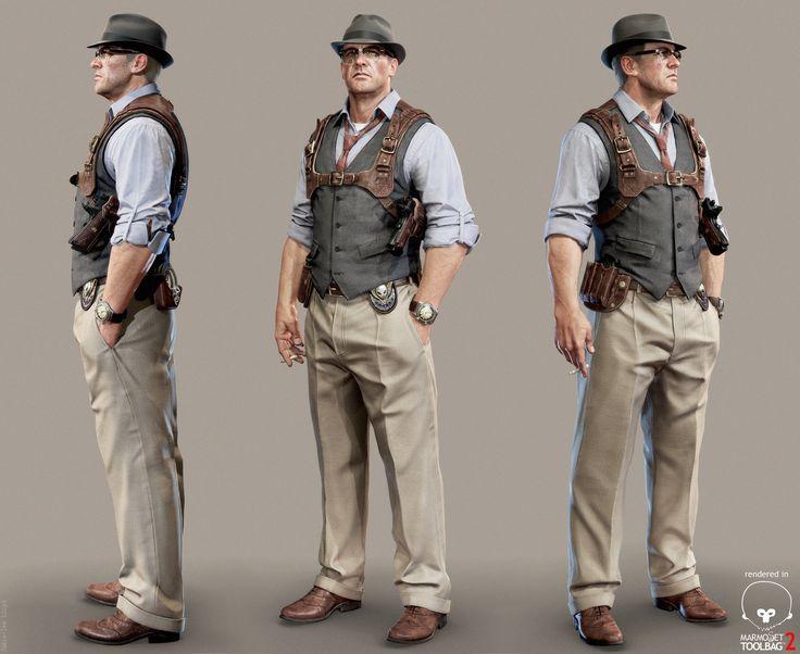'G-man: Ray Johnson', Jamie-lee Lloyd on ArtStation at https://www.artstation.com/artwork/g-man-realtime-game-art
