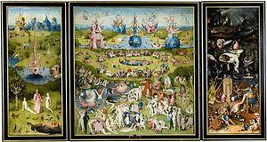 """Nos encontramos ante un cuadro titulado """"El jardín de las delicias"""" realizado por El Bosco, hacia 1500-1505."""