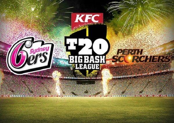 Watch live streaming of Sydney Sixers vs Perth Scorchers 2016-17 big bash... #BBL06 #crickeyt