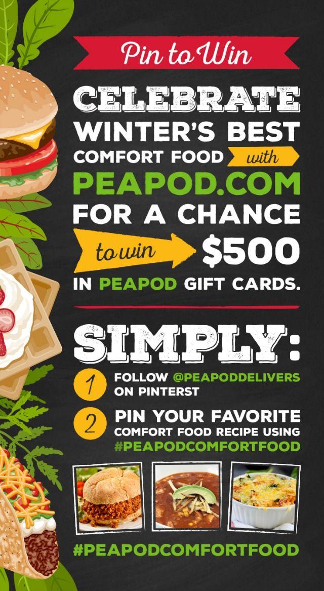 peapod pinterest sweepstakes comfort food promotion   Food