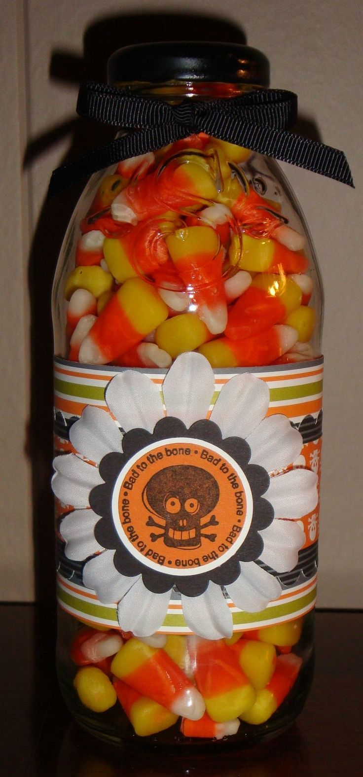 Recycle your juice or cold coffee bottles into Halloween gifts (Or Christmas Mix?) .. so many Snapple bottles!