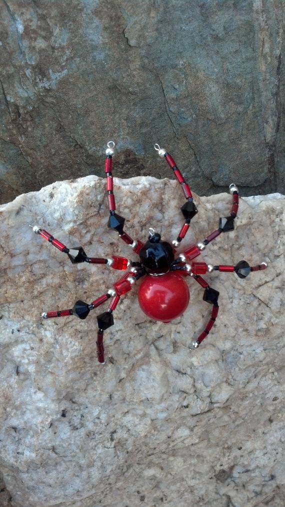 medium beaded spider by Natjerm on Etsy, $10.00