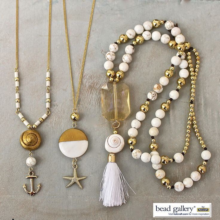 DIY Shore Necklaces by @dyezbakmoore featuring Bead Gallery beads available at @michaelsstores #madewithmichaels