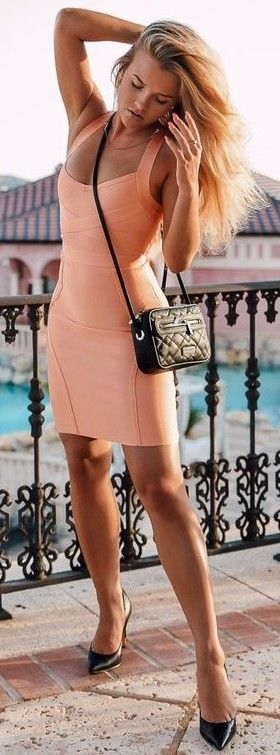 #summer #trending #fashion | Little Peach Dress