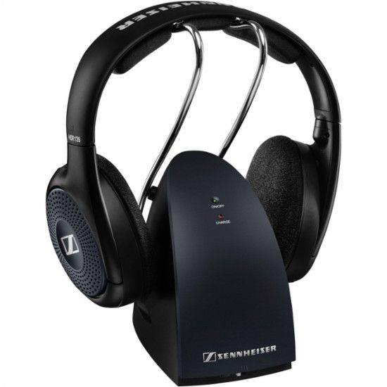 Sennheiser - RS 135 Over-the-Ear Wireless Headphones - Black - Front_Zoom