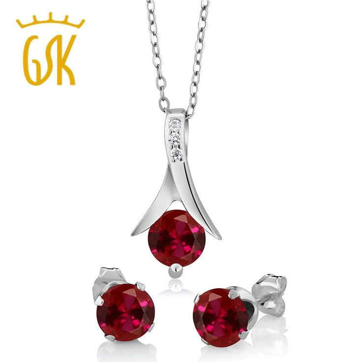 925 Sterling Silver Jewelry Set 2.40