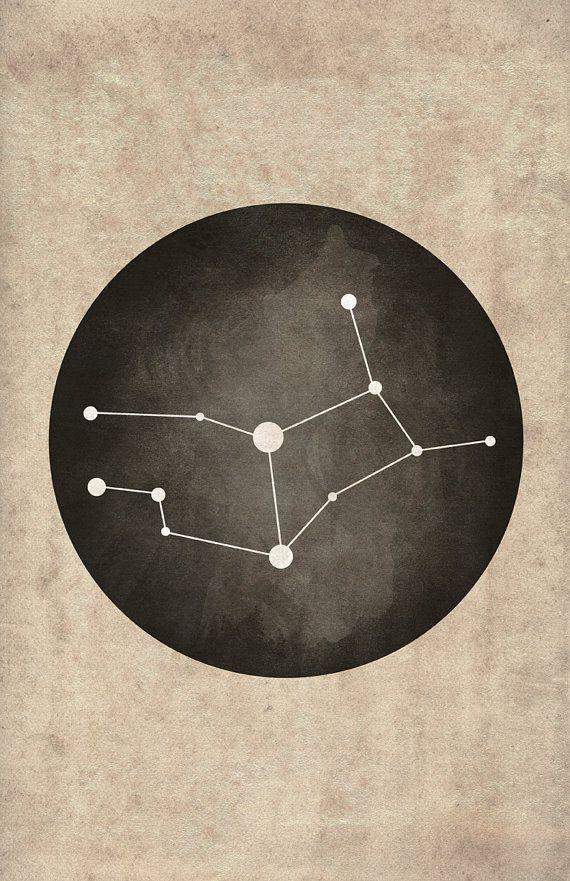 Poster Print of the Constellation Virgo