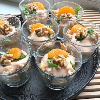 Heerlijke kipcocktail (of garnalencocktail) met walnoten en mandarijntjes - Lekker eten met Marlon