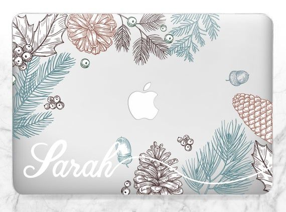 Macbook case personalized Macbook case winter Macbook case name Macbook floral case Macbook custom c