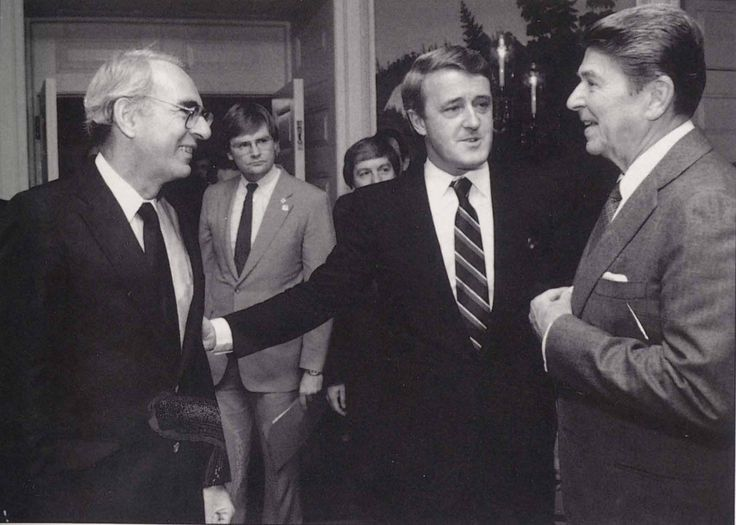 Allan Gotlieb, Ronald Reagan and Brian Mulroney.