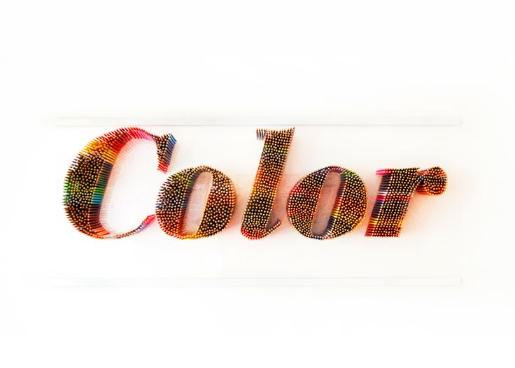Titel: Color Material: Pencils, persplex, glue Size: 160cm x 65cm  www.jaspergilsing.nl/color  kunst - art - typografie - typography - potloden - pencils - lijm - glue - kleur - color - letters - 3d - modern art - fun - enjoy