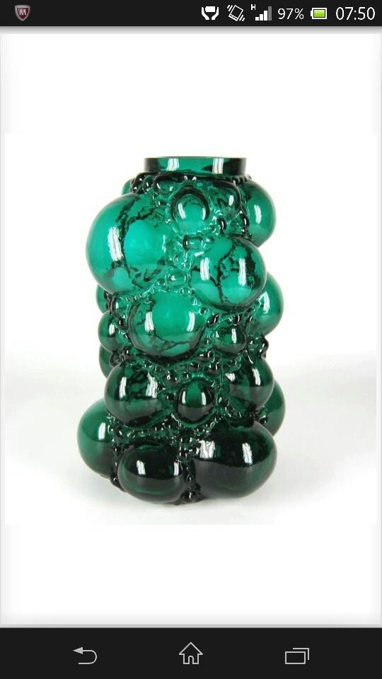Pavel Hlava Czech glass vase