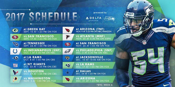 Seattle Seahawks Announce 2017 Schedule | Seattle Seahawks