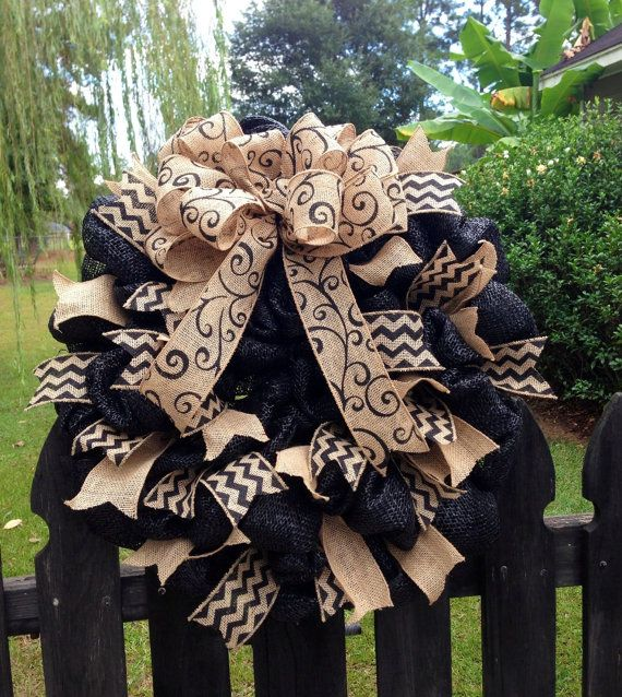 Burlap Wreath by TazCreations on Etsy, $70.00