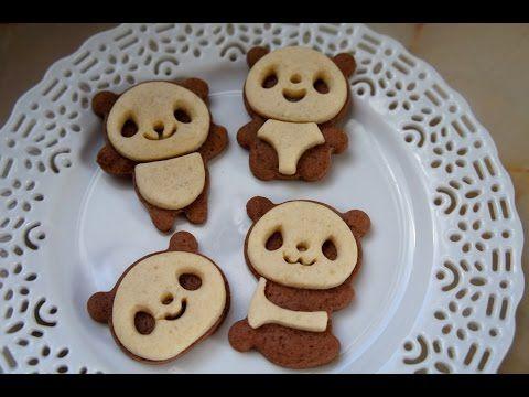How to Make Panda Cookies - YouTube