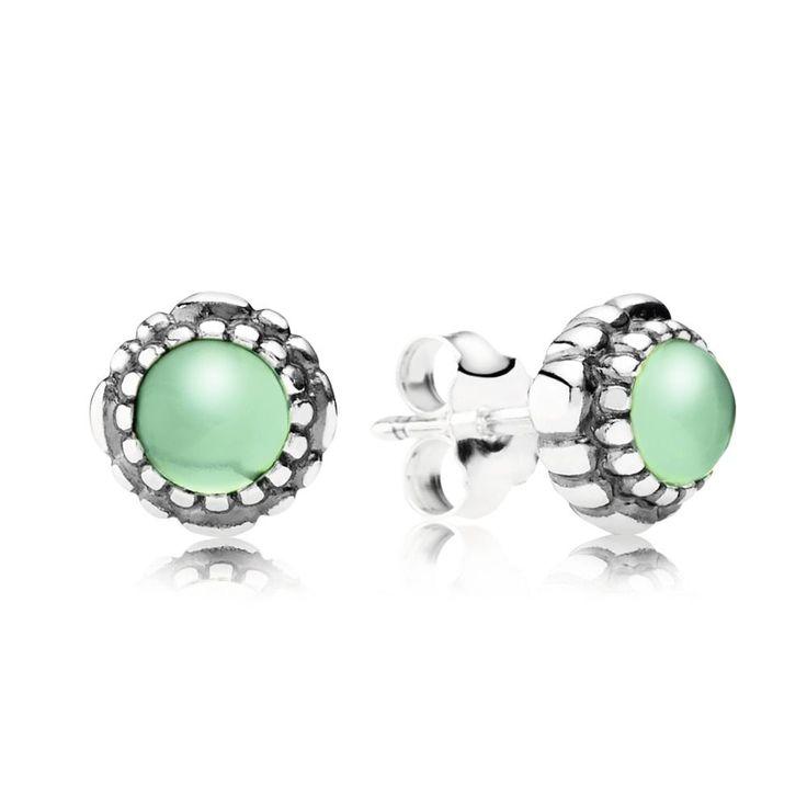Green Chrysoprase May Birthstone Earrings - PANDORA - PANDORA Aus