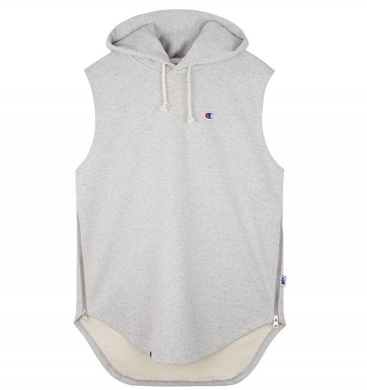 Champion BEAMS SLEEVELESS HOODED SWEATSHIRT #Champion #sweatshirt #beams #sefton #menswear