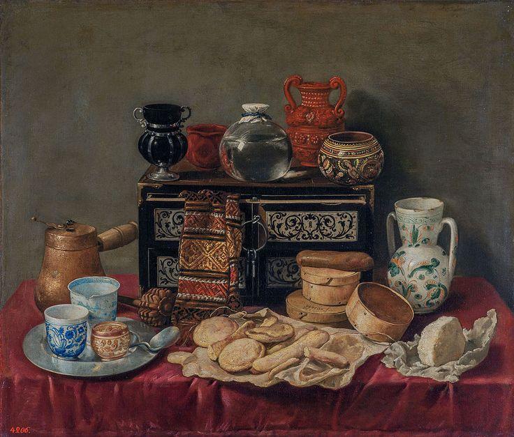 Antonio de Pereda y Salgado - Still-Life with an Ebony Chest