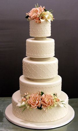 Classic White Elegance - like the cake and colors
