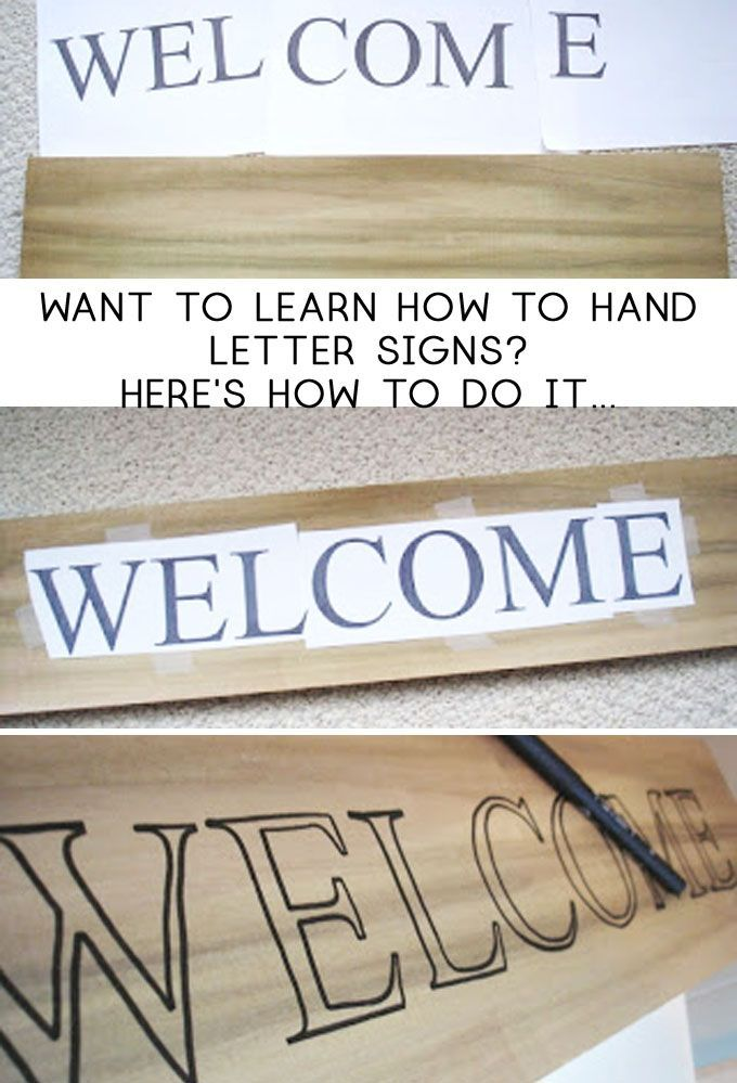 How To Hand Letter Signs Making Wood Signs Farmhouse Style How To Make Signs Wood Signs Diy Hand Painted Signs Diy Diy Signs Lettering Diy Wood Signs