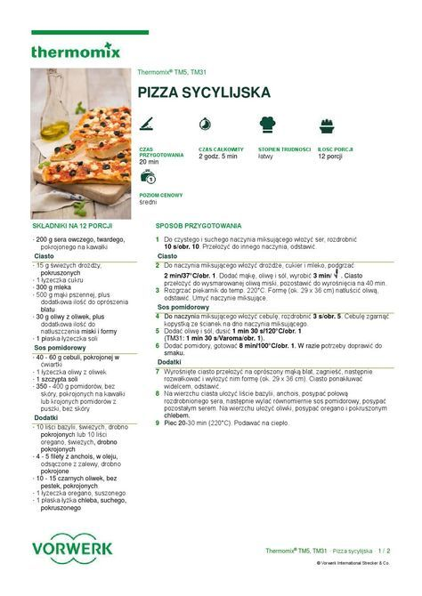 Pizza sycylijska