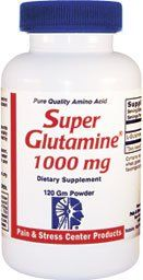 Super Glutamine 1000 mg by Pain & Stress Center. $18.95. Improves alertness. Helps decrease cravings for alcohol and sugar.. Mental sharpness. Glutamine readily crosses the blood-brain barrier.. Super Glutamine 1000 mg (SG 1000) is perfect for children and adults requiring:. Glutamine is a potent energy source for high energy activities such as thinking and memory  because it easily crosses the blood brain barrier.   Super Glutamine 1000 contains pure pharmaceutical grade produ...