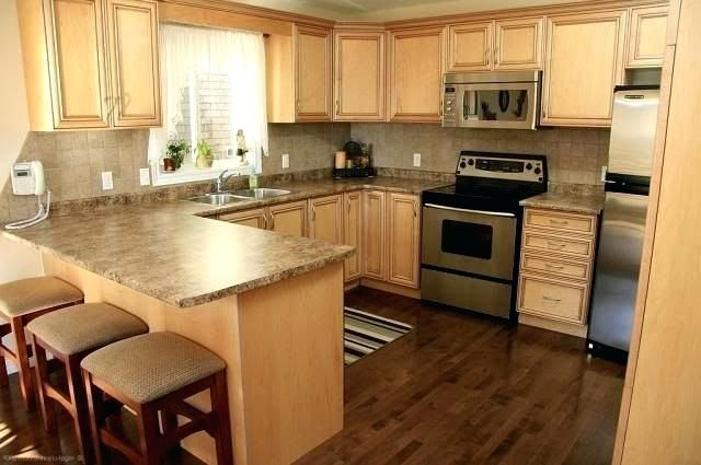 Maple Kitchen Cabinets With Dark Wood