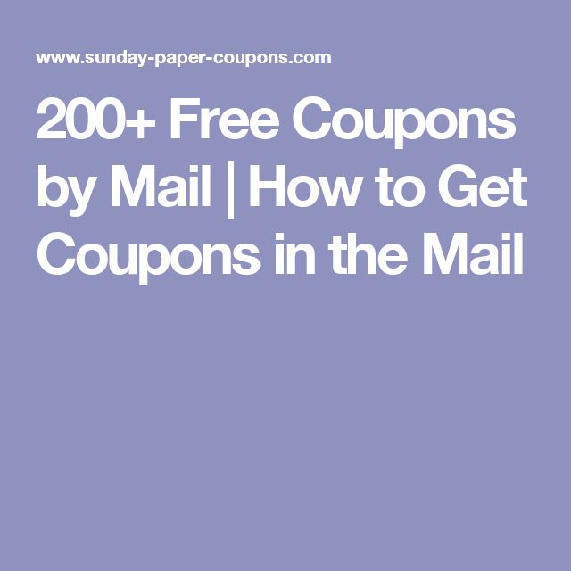 200+ Free Coupons by Mail | How to Get Coupons in the Mail