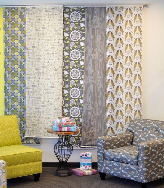 wall of fabrics