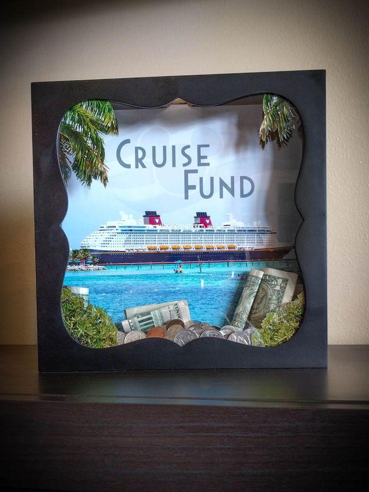 Disney Cruise Vacation Fund Savings Shadowbox Bank by MyGoodTimeDesign on Etsy