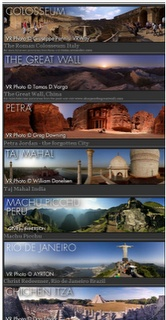 A virtual 3d visit to the 7 wonders of the world