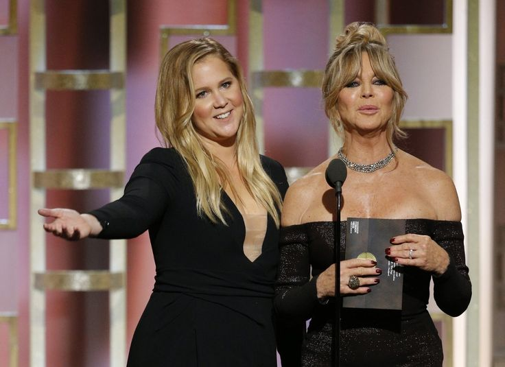 Goldie Hawn and Amy Schumer at an event for The 74th Golden Globe Awards