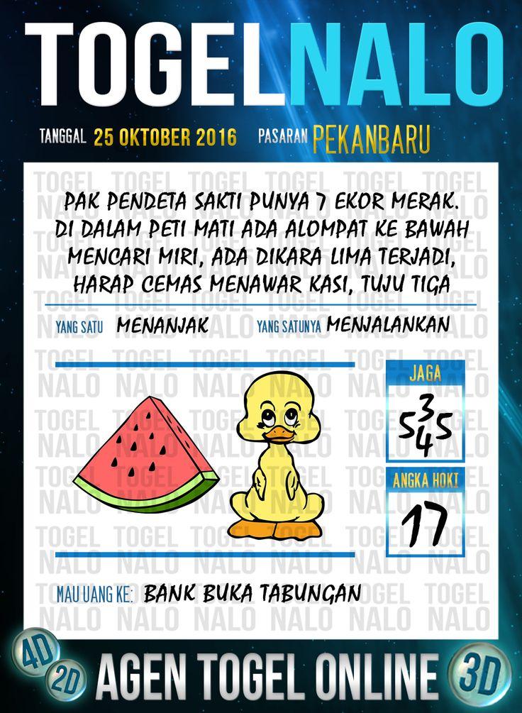 Tafsir Syair Togel Wap Online Live Draw 4D TogelNalo Pekanbaru 25 Oktober 2016