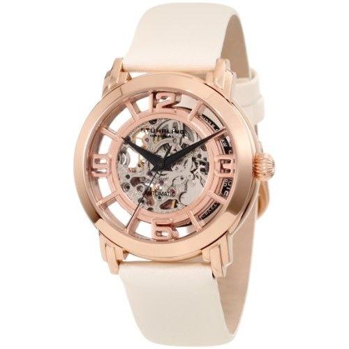 Stuhrling Original Women's 156.124W14 Classic Lady Winchester Automatic Skeleton White Watch