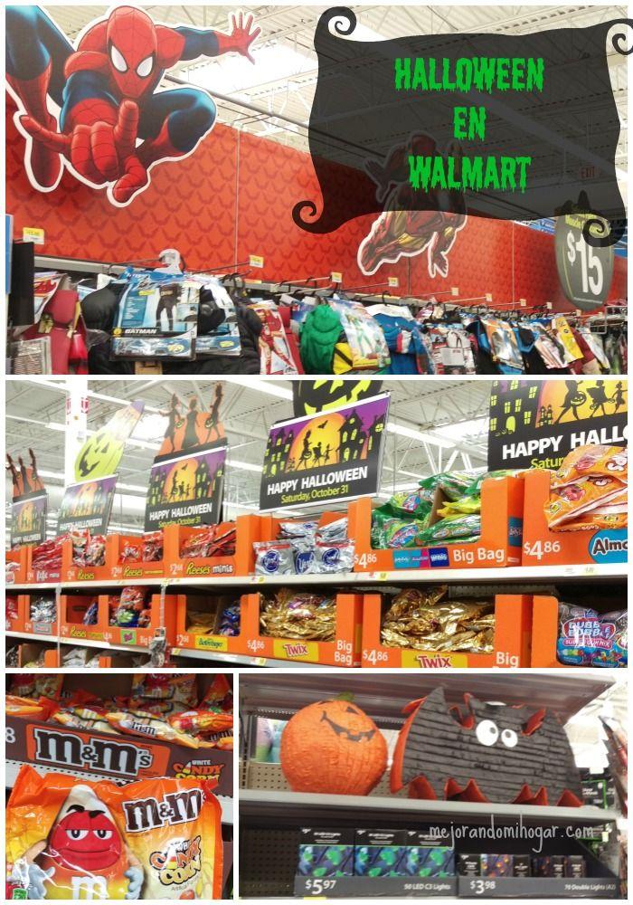 Disfraces de los personajes de moda,dulces de la temporada y decoraciones para tu fiesta de #Halloween #Walmart #ad