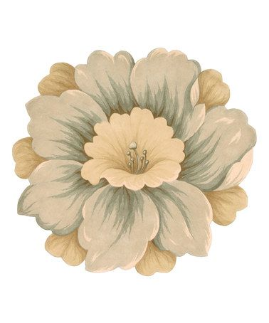 Look at this #zulilyfind! Gold Flower Bloom Wool Rug #zulilyfinds