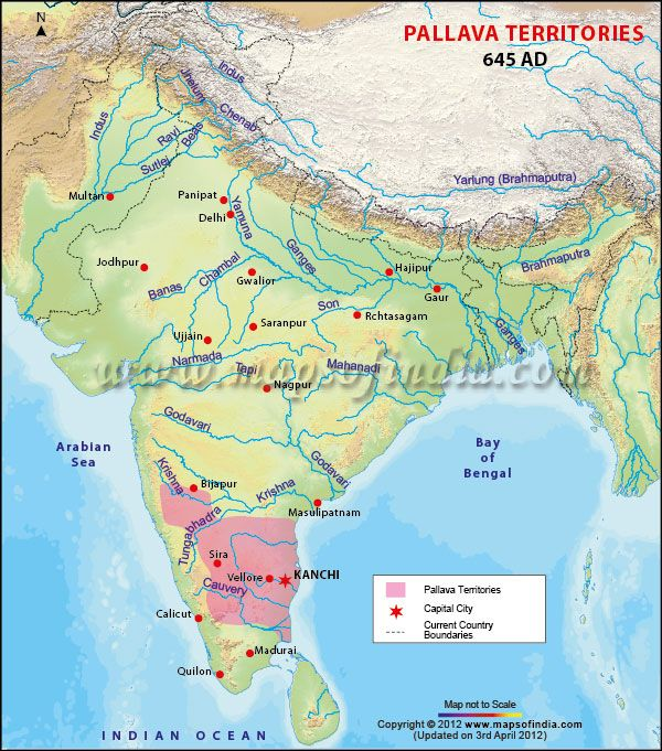 Map of Pallava Dynasty