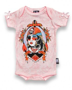 Pirate Girl Tattoo Pink One Piece. love it