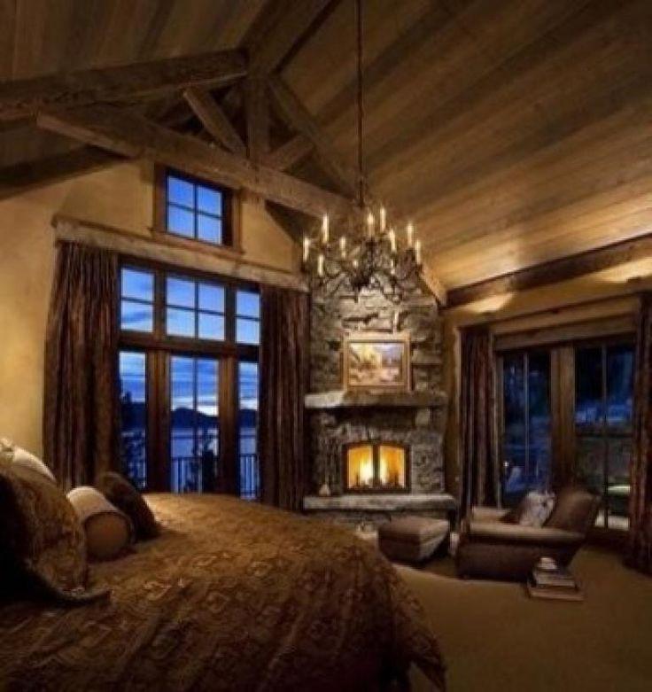 21 Cosy Winter Bedroom Ideas: 30+ BEST RUSTIC FIREPLACE BEDROOM IDEAS FOR COZY BEDROOM