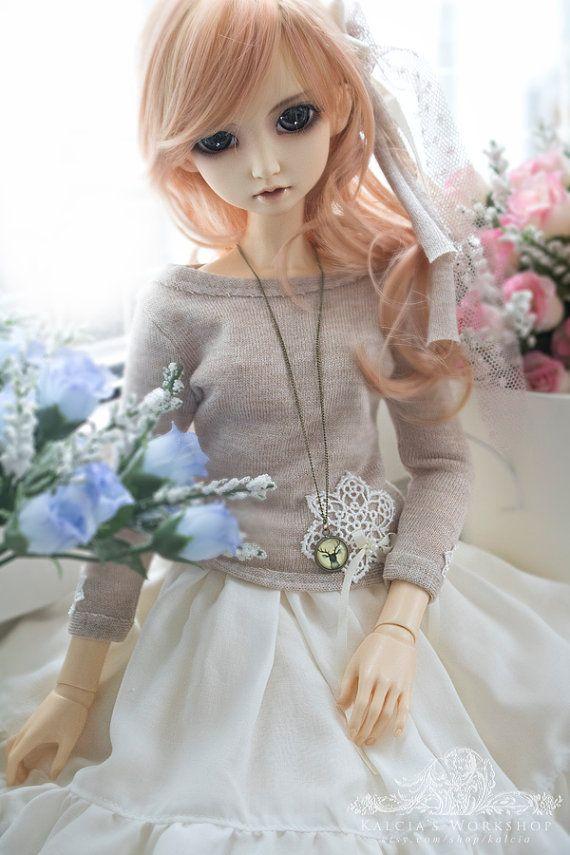 lovely mori set outfit for Super Dollfie Dollfie Dream by kalcia