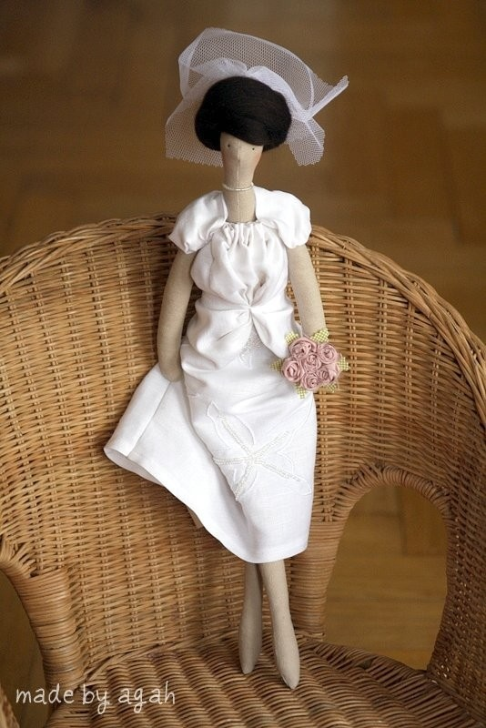 Custom OOAK Fabric Doll Made To Order For The Bride Or Bridesmaids