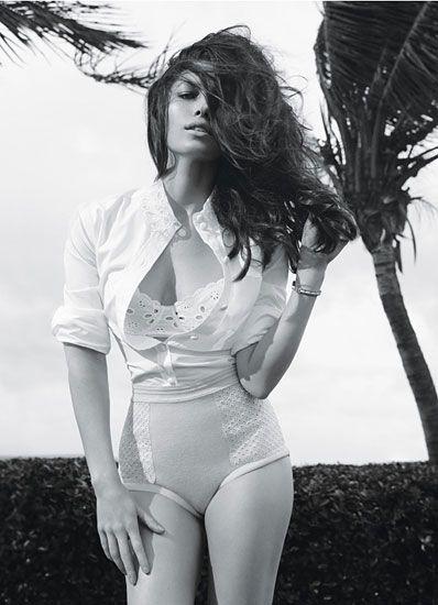 Jessica Biel & W Magazine: Jenna Leigh's cotton bra; Louis Vuitton's cashmere & nylon briefs
