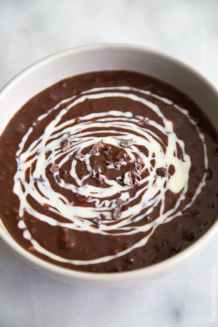 ••• Champorado Filipino Chocolate Rice Porridge