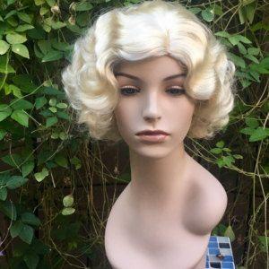 Marilyn Monroe Blonde Curly Wave Wig
